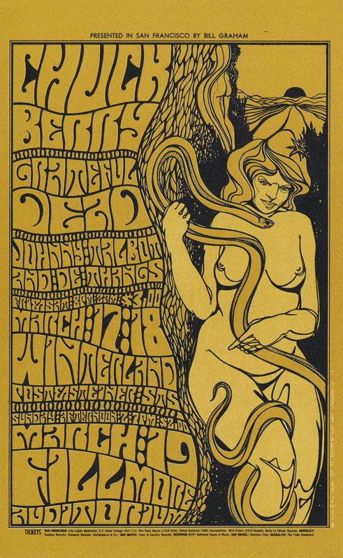 BG # 55-1 Chuck Berry Fillmore postcard - bulk back BG55