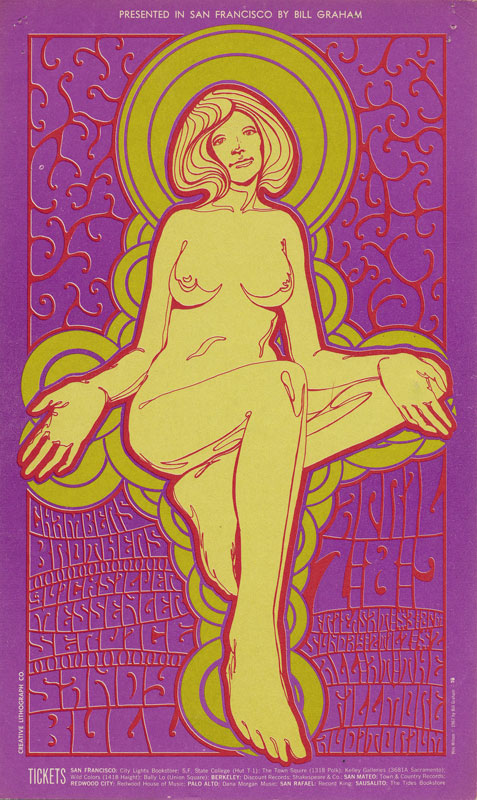 BG # 58 Chambers Brothers Fillmore postcard BG58