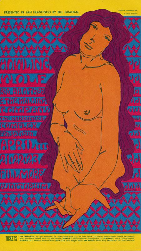 BG # 60-1 Howling Wolf Fillmore Poster BG60