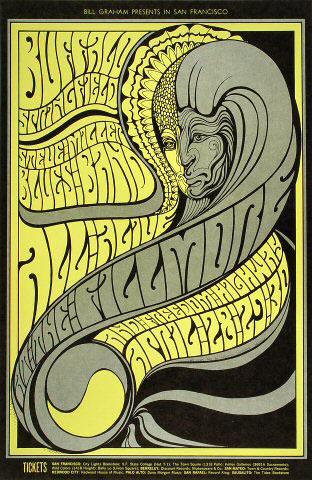 BG # 61-1 Buffalo Springfield Fillmore Poster BG61