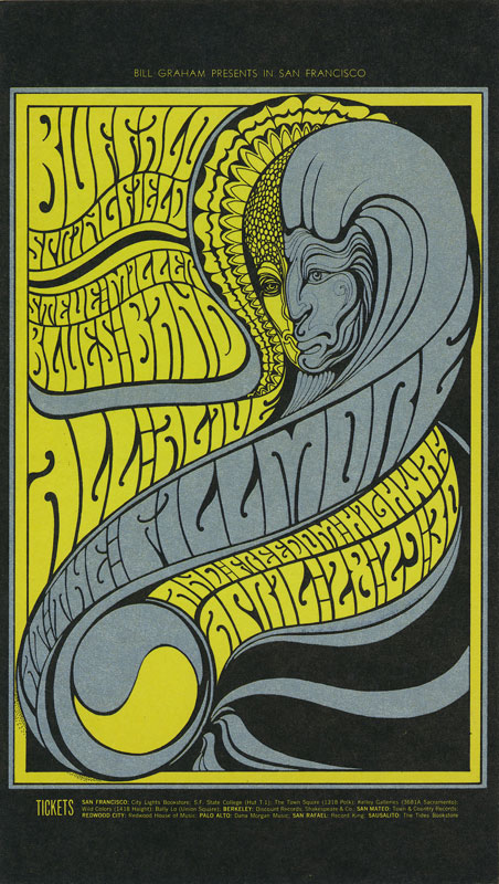 BG # 61 Buffalo Springfield Fillmore postcard - stamp back BG61