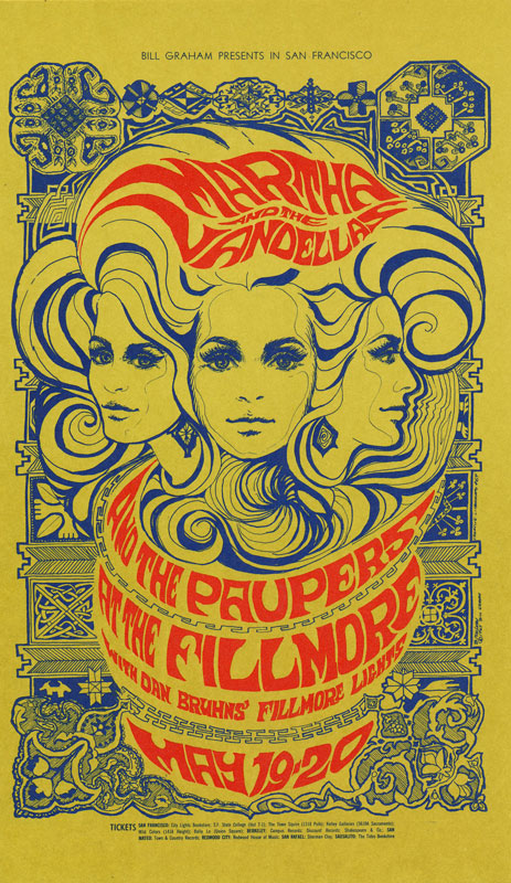 BG # 64-1 Martha and the Vandellas Fillmore Poster BG64