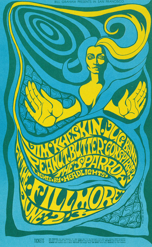 BG # 66 Jim Kweskin Jug Band Fillmore postcard - stamp back BG66