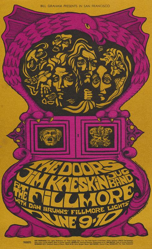 BG # 67 Doors Fillmore postcard - stamp back BG67