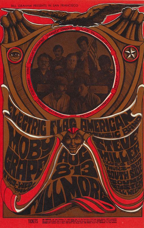 BG # 77-1 Electric Flag Fillmore Poster BG77