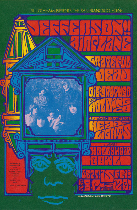 BG # 81 Jefferson Airplane Fillmore postcard BG81