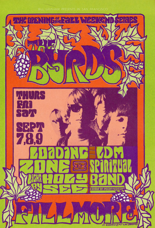 BG # 82 Byrds Fillmore postcard BG82