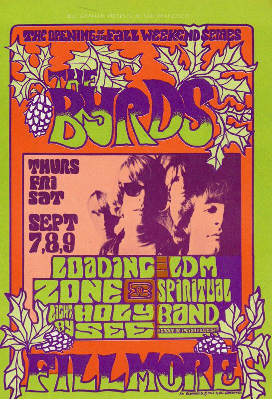 BG # 82 Byrds Fillmore postcard - stamp back BG82