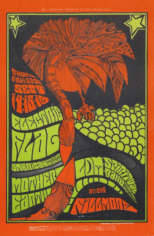 BG # 83-1 Electric Flag Fillmore Poster BG83