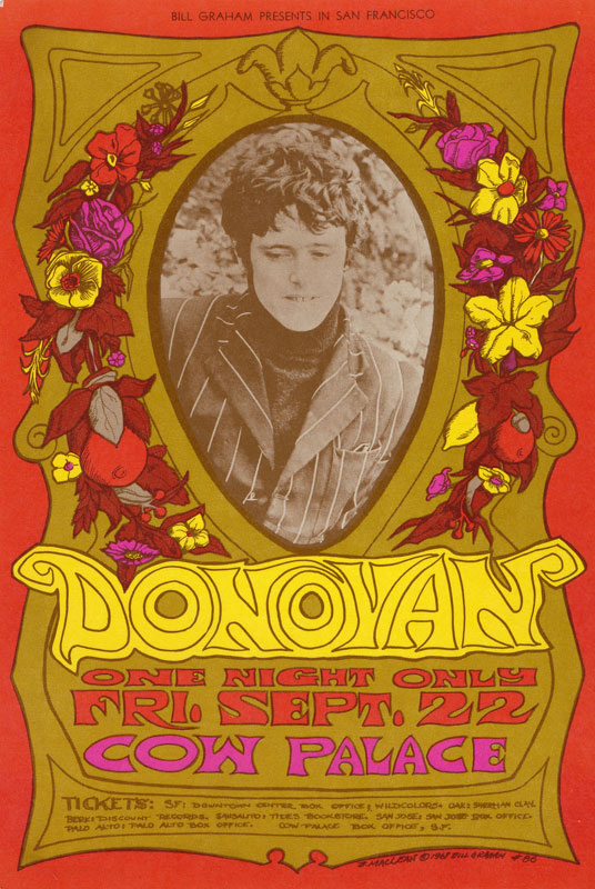 BG # 86-1 Donovan Fillmore Poster BG86