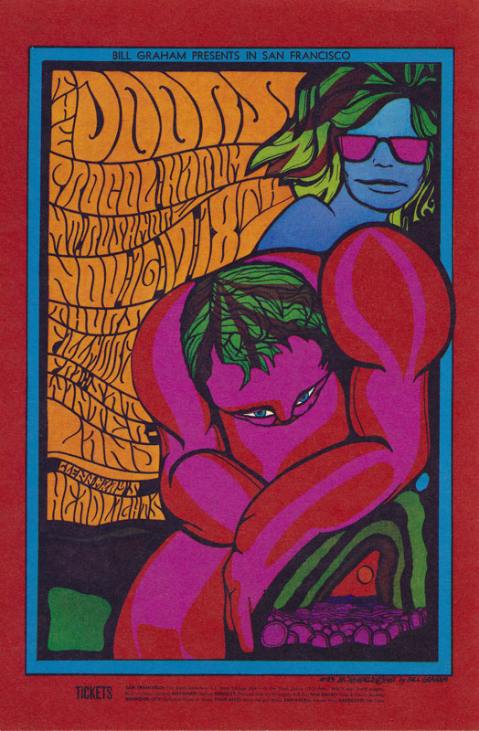BG # 93a-1 Doors Fillmore postcard - blank back BG93a