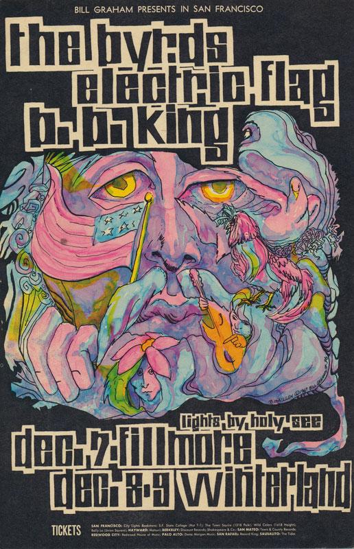 BG # 96-1 Byrds Fillmore Poster BG96