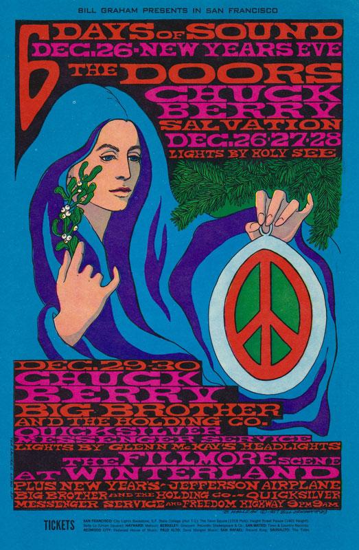 BG # 99 Doors Fillmore postcard BG99