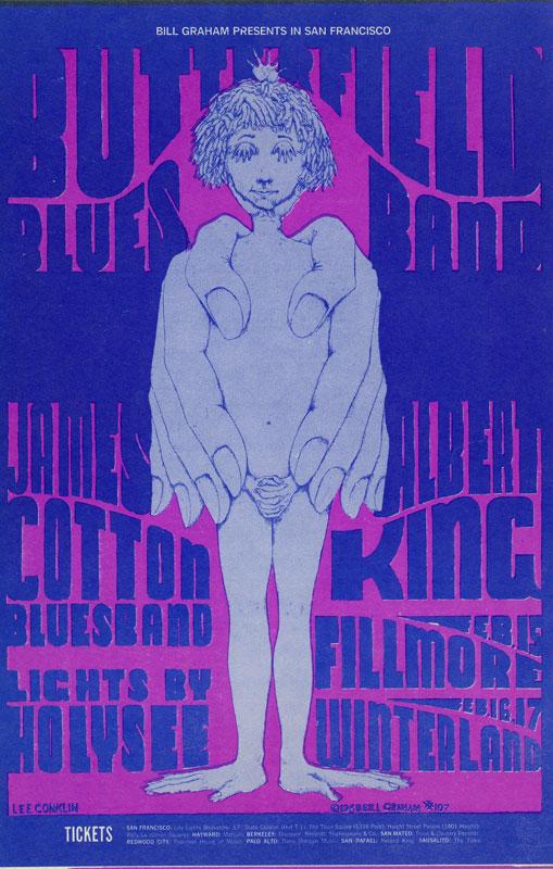 BG # 107-1 Butterfield Blues Band Fillmore Poster BG107