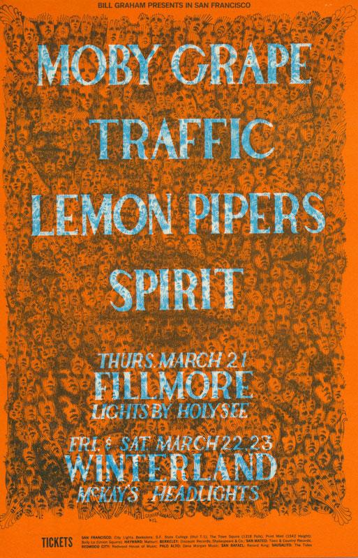 BG # 112-1 Moby Grape Fillmore Poster BG112