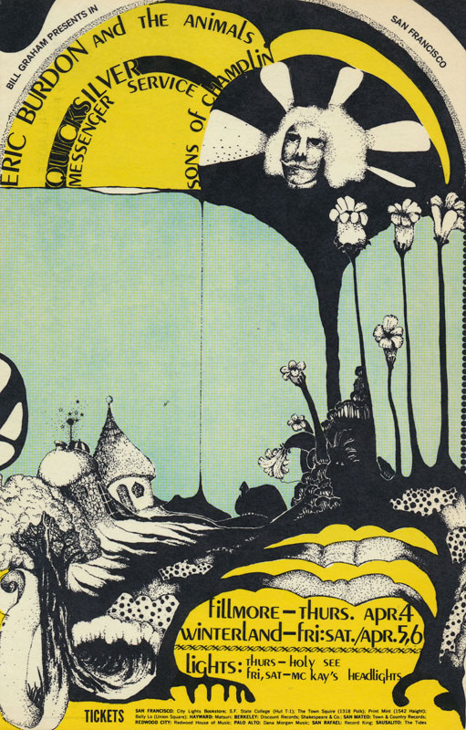 BG # 114-1 Eric Burdon & the Animals Fillmore Poster BG114