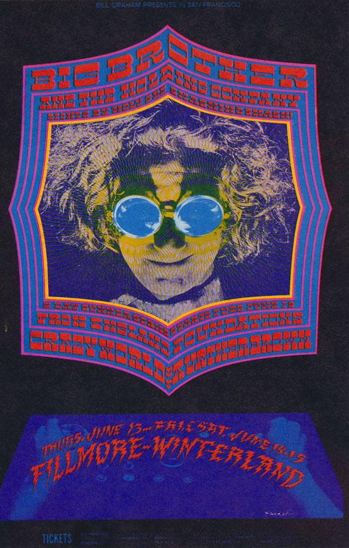 BG # 124-1 Big Brother & the Holding Co. Fillmore Poster BG124
