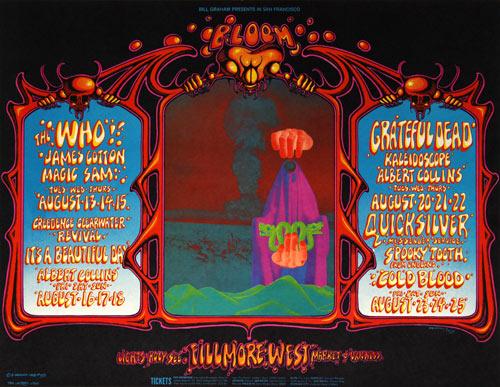 BG # 133-1 The Who Fillmore Poster BG133