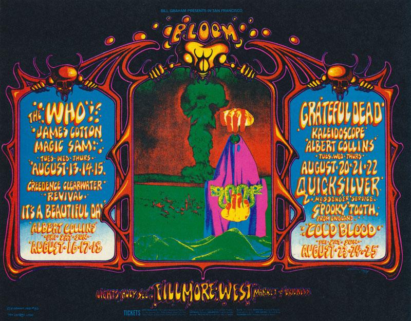 BG # 133 The Who Fillmore postcard - stamp back BG133