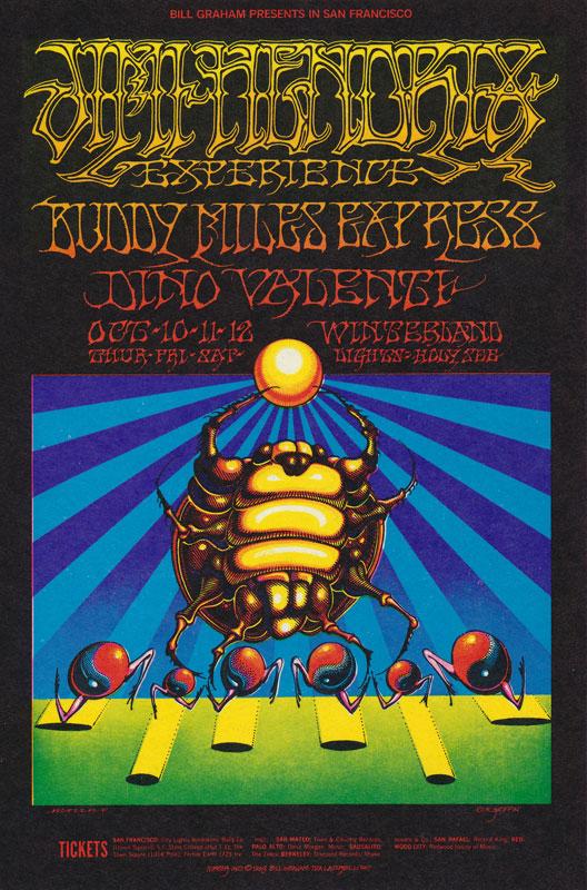 BG # 140-2 Jimi Hendrix Experience Fillmore Poster BG140