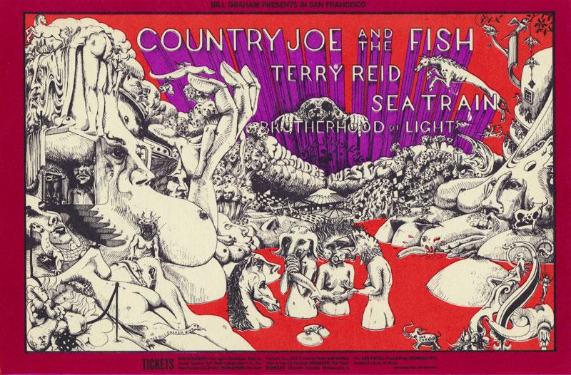 BG # 149-1 Country Joe and the Fish Fillmore Poster BG149