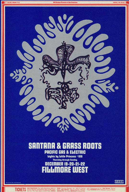BG # 150-1 Santana Fillmore Poster BG150