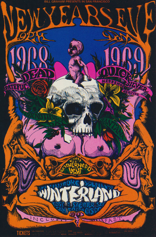 BG # 152 Grateful Dead Fillmore postcard - stamp back BG152