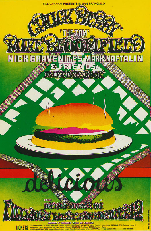 BG # 158-1 Chuck Berry Fillmore Poster BG158