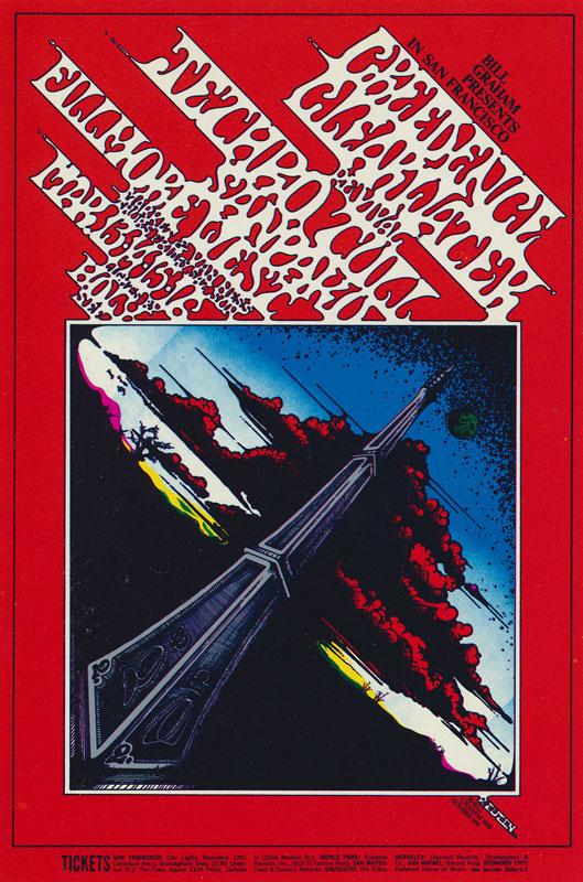 BG # 164-1 Creedence Clearwater Revival Fillmore Poster BG164