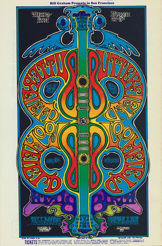 BG # 166 Butterfield Blues Band Fillmore postcard - stamp back BG166