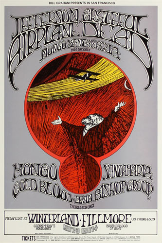 BG # 171-2 Jefferson Airplane Fillmore Poster BG171