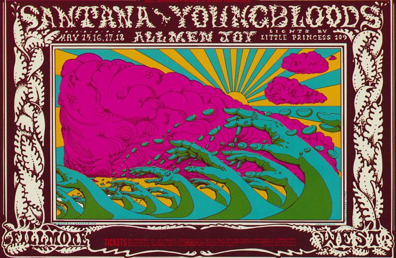 BG # 173-1 Santana Fillmore Poster BG173