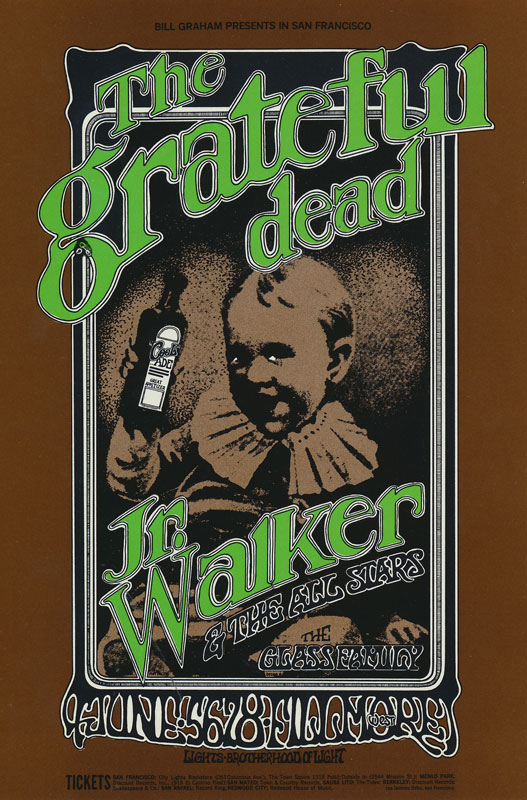 BG # 176-2 Grateful Dead Fillmore Poster BG176