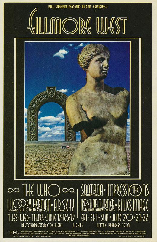 BG # 178 The Who Fillmore postcard - ad back BG178