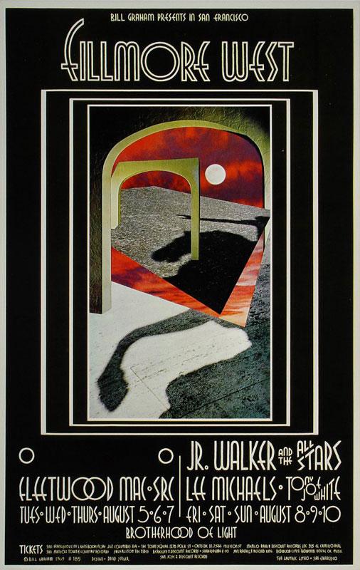 BG # 185-1 Fleetwood Mac Fillmore Poster BG185