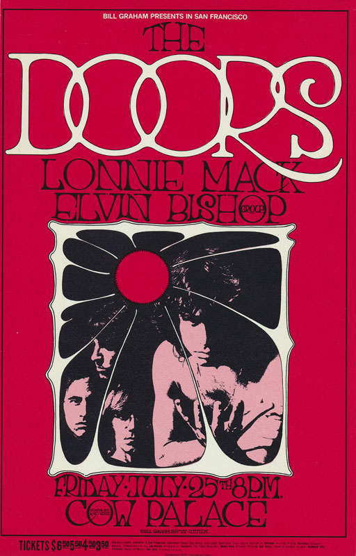 BG # 186 Doors Fillmore postcard BG186