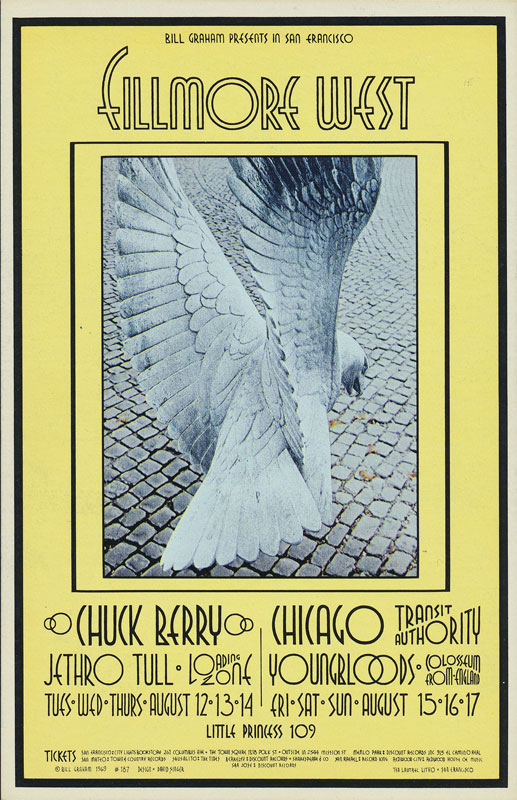 BG # 187-1 Chuck Berry Fillmore Poster BG187