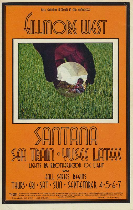 BG # 190-1 Santana Fillmore Poster BG190