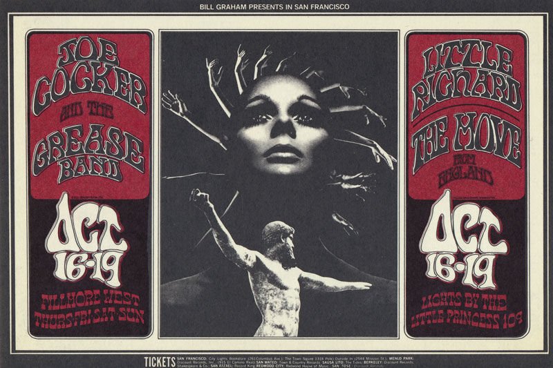 BG # 196-1 Joe Cocker & the Grease Band Fillmore Poster BG196