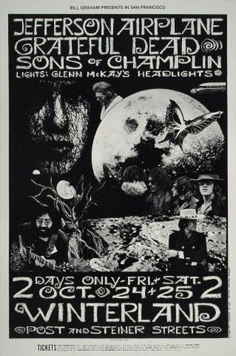 BG # 197-1 Jefferson Airplane Fillmore Poster BG197