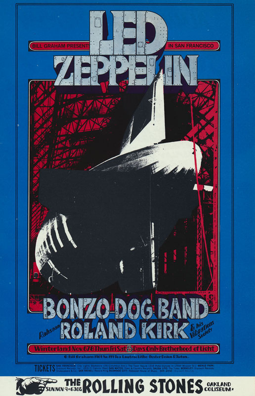 BG # 199 Led Zeppelin Fillmore postcard - ad back BG199