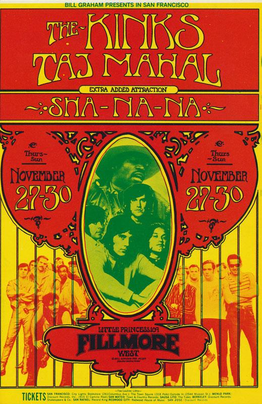 BG # 204-1 Kinks Fillmore Poster BG204