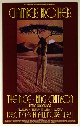 BG # 206-1 Chambers Brothers Fillmore Poster BG206