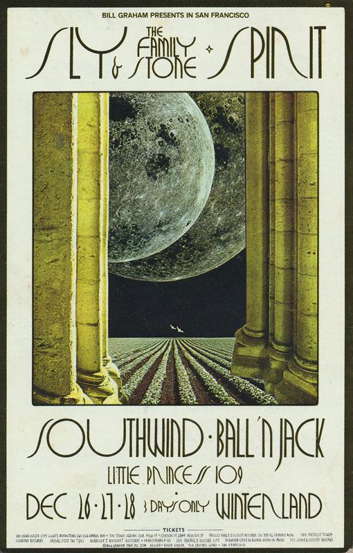 BG # 208-1 Sly & The Family Stone Fillmore Poster BG208