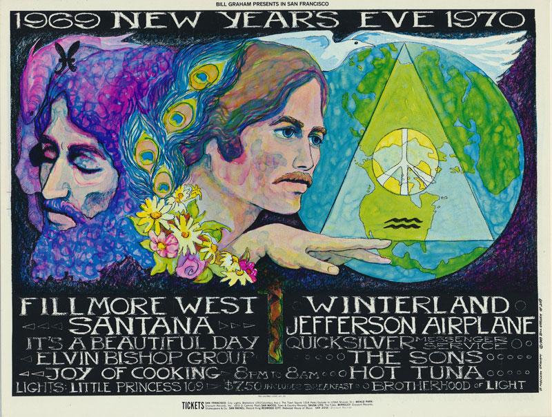BG # 209 Santana Fillmore postcard - blank back BG209