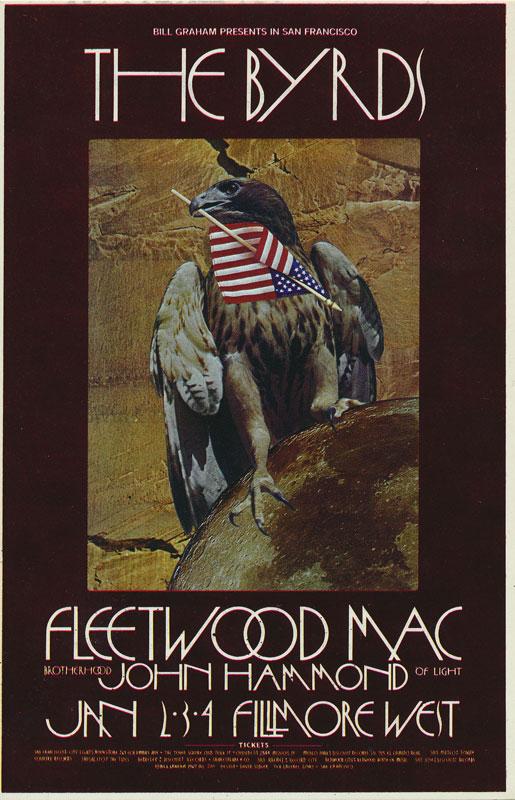 BG # 210 Byrds Fillmore postcard - ad back BG210