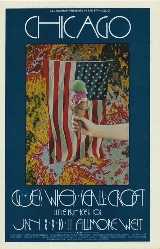 BG # 211 Chicago Fillmore postcard - ad back BG211