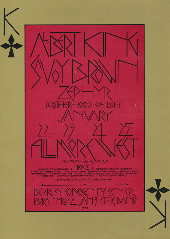 BG # 213-1 Albert King Fillmore Poster BG213