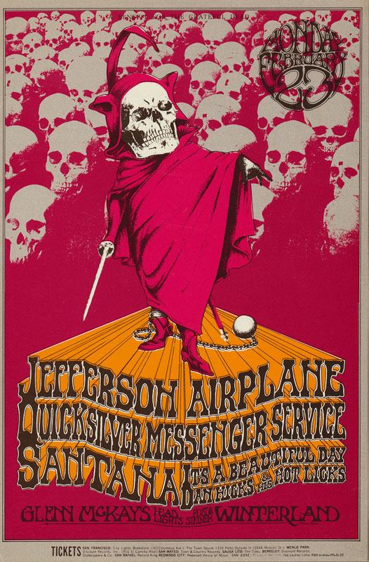 BG # 222 Benefit Concert For The Grateful Dead Fillmore postcard - blank back BG222