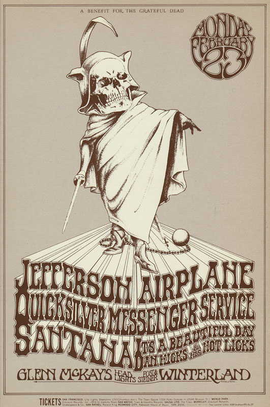BG # 222 Jefferson Airplane Fillmore postcard - blank back BG222